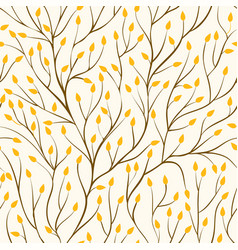 Beautiful seamless pattern with tree branches and vector