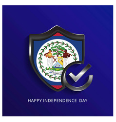 Belize independence day shield background vector