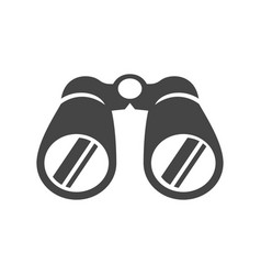 Binoculars bold black silhouette icon isolated vector
