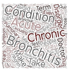 bronchitis text background wordcloud concept vector image