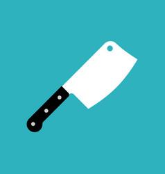 Butcher knife big knife for meat vector