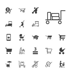 Cart icons vector