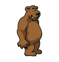cartoon brown bear character vector image