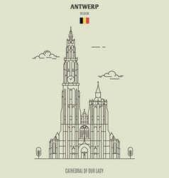 Cathedral of our lady vector