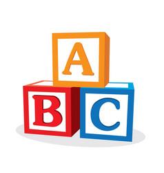children abc letter blocks vector image