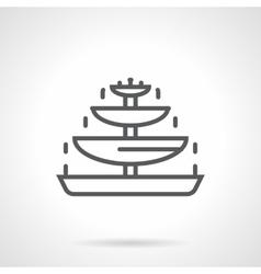 Chocolate fountain black line icon vector