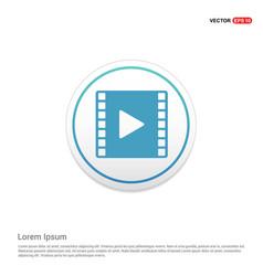 clapper board icon hexa white background icon vector image