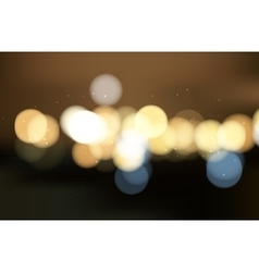 Colorful bokeh background Blurred light vector image