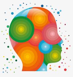 Colorful human head icon vector