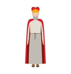 Colorful king with crown and beard without a face vector
