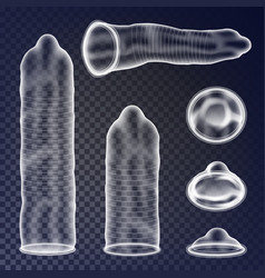 Condoms set sexual protection concept vector