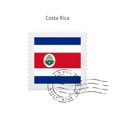 Costa Rica Flag Postage Stamp vector