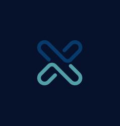 Creative letter x logo design template vector