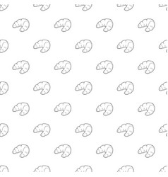 croissant pattern seamless vector image