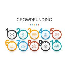 Crowdfunding infographic design templatestartup vector