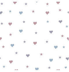 cute little hearts background seamless pattern vector image
