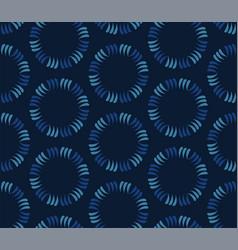 Dark classic blue tossed polka dot texture vector
