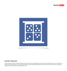 dice icon - blue photo frame vector image