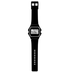 Digital watch vector image