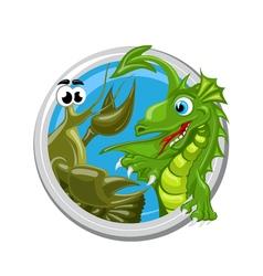 Dragon Cancer Zodiac sign vector image