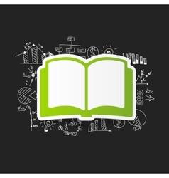 Drawing business formulas book vector