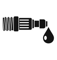 Drop irrigation pipe icon simple style vector