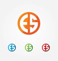 E and s text logo vector