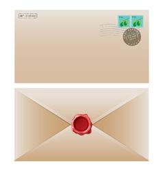 envelope brown vector image vector image