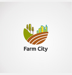 farm city logo icon element and template for vector image