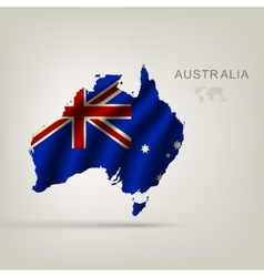 flag of Australia as the country vector image