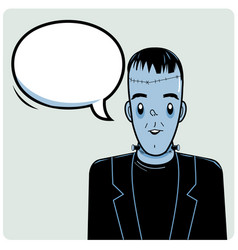Frankenstein and speech bubble vector