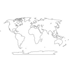 Freehand world map sketch on white background vector