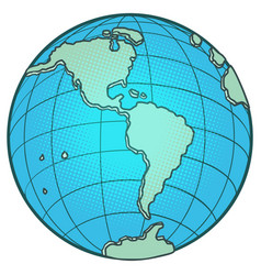 globe north and south america vector image