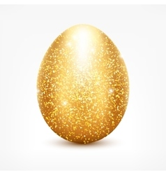 Golden glitter egg vector