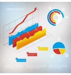 Graph infographic element vector