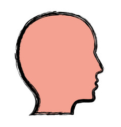Head profile icon vector