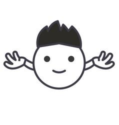 hippy emoji concept line editable concept vector image