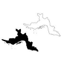 Hormozgan province map vector