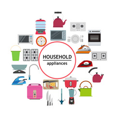 Household electrical kitchen appliance modern vector