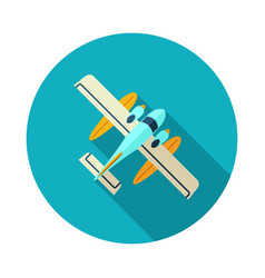Hydroplane icon summer vacation vector