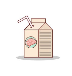 Isolated cartoon drink brain juice on a box vector image