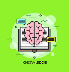 knowledge thin line concept vector image