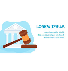 Law school jurisprudence education web banner vector