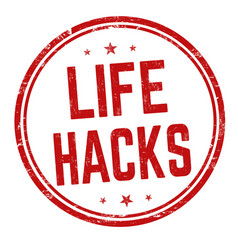 life hacks sign or stamp vector image