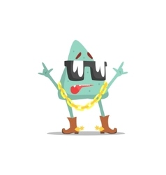 Lue Triangle Shape Monster In Shades Wearing Gold vector