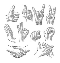 male and female hand sign fist like handshake vector image