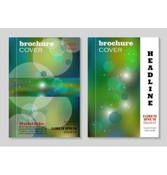 Modern brochure cover design vector