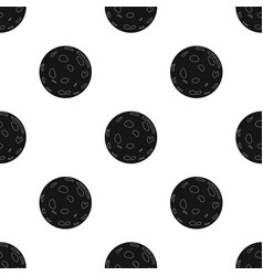Moon icon in black style isolated on white vector
