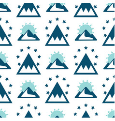 mountain exploration vintage background vector image