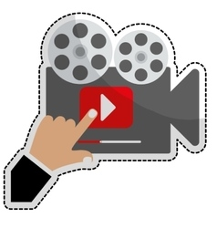 movie or video related icon image vector image